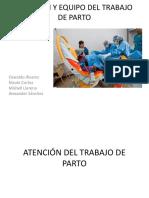 ATENCIÓN Y EQUIPO DEL TRABAJO DE PARTO
