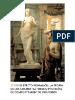 El Efecto Pigmalión_ La Teoría de Los Cuatro Factores o Profecías de Comportamientos Inducidos _ SpreiTraining, Servicios de Consultoría Empresarial