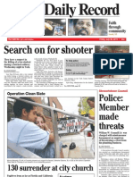 Front page - York Daily Record/Sunday News, July 30, 2010