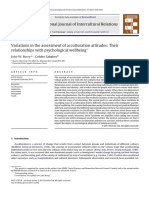 Variations in the assessment of acculturation attitudes Their relationships with psychological wellbeing ☆