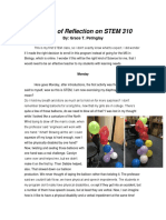 A Week of Reflections of STEM 310 by Grace T. Petinglay