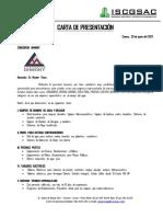 Consorcio Dhmont - Carta Presentacion Ingenieros Sanitarios y Contratistas Generales s.a.c