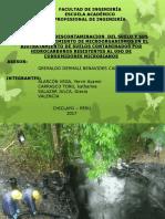 Tedencia de La Descontaminacion Del Suelo y Sus Niveles de Crecimiento de Microorganismos en El Biotratamiento de Suelos Contaminados Por Hidrocarburos Resistentes Al Uso de Consumidores Microbianos