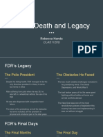 Week 3- FDR's Death and Legacy