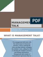Management Talk