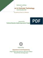 Brochure of Workshop on Innovation in Concrete Technology (1)