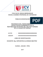 Tesis Incidencia Del Financimiento y La Capacita en La Rentabilidad de Las Mypes Del Sector Turismo de La Ciudad de h