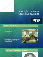 Capítulo 8 - Unificações italiana e alemã e imperialismo