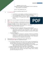 Condominium Act Summary
