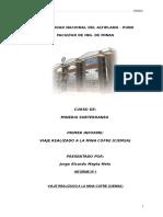 Informe Subterranea a La Mina Cofre