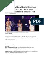 2013-2014 Philippine TV Ratings
