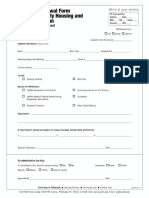 Housing Meal Plan Withdrawal Form