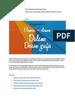 A1 Elemen Desain Grafis Berdasarkan Sifatnya