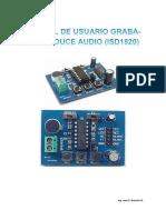 Manual Tarjeta Graba-Reproduce Audio (ISD1820)