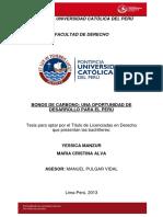 Bonos Carbono Oportunidad Desarrollo Para Perú