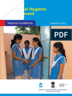 Menstrual Hygiene Management - Guidelines
