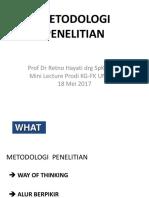 Mini Lecture Metpen Unsoed