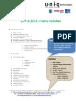 JAVA Course Details