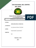 Informe de Metalurgia Del Zinc
