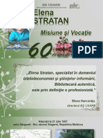 Elena Statan. Misiune şi Vocaţie