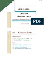 CE201 Statics Chap10