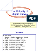 Ubiquity of Elliptic Curves