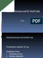 Perdarahan Ante Partum Syafira (Dr. Donel Sp.og (Kfm)