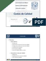 DSGCAU Mod 06 02 Modulo VI Costos de Calidad