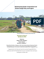Workshop on Mainstreaming Gender in International and National Climate Change Policy and Program