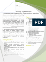 BA01A DCO Defining Organizational Requirements