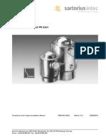 Installation Manual Sartorius Load Cell Type PR6201
