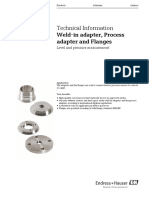 TI Weld-In Adapter, Process Adapter and Flanges ( Endress Hauser)