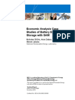 Battery Storage Economic Analysis