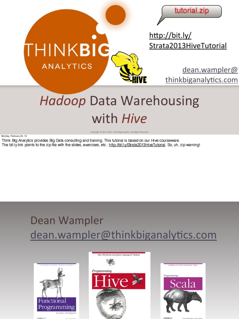 Hadoop Data Warehousing With Hive Presentation | Map Reduce