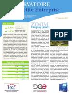 Observatoire de la petite entreprise n° 65 FCGA - Banque Populaire