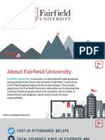 Study Abroad at Fairfield University, Admission Requirements, Courses, Fees