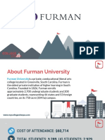 Study Abroad at Furman University, Admission Requirements, Courses, Fees