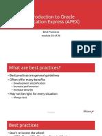 Mod 20 - Best Practices