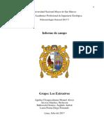 Informe de Campo -  Ancash (Universidad Nacional Mayor de San Marcos) 2017