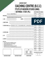 Answer Sheet (3)