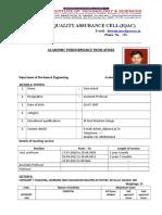 Pace Iqac API Form