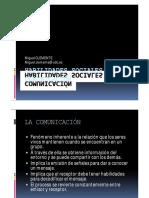 HABILIDADES SOCIALES DE COMUNICACIÓN presentación