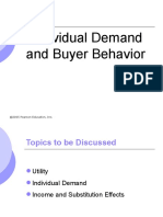 Individual Demand & Buyer Behavior