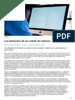 Las funciones de un comité de tumores - Madrid es Noticia