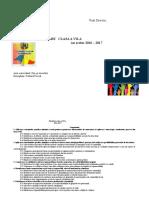Planificare VII 2016-17