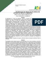CRITÉRIOS PARA DELIMITAÇÃO DE ÁREAS DE INFLUÊNCIA EM ESTUDOS DE IMPACTO AMBIENTAL