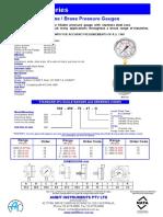 50mm Gauge Data Sheet
