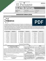 Diario Oficial El Peruano, Edición 9754. 12 de julio de 2017