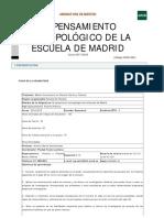 El Pensamiento Antropológico de La Escuela de Madrid