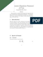 Equation Gas Dynamics
